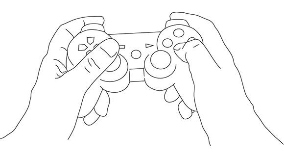 På en handkontroll finns knappar som är tydligt avgränsade och kännbara - något som gör att jag som spelare inte måste tänka eller titta, jag kan istället känna vad jag skall trycka på.