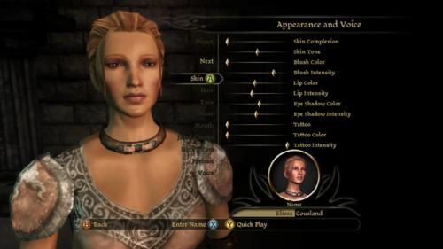 Character Creation Skin