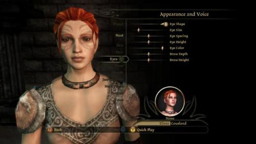 Character Creation Eyes